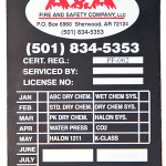 Fire Extinguisher Service Tag